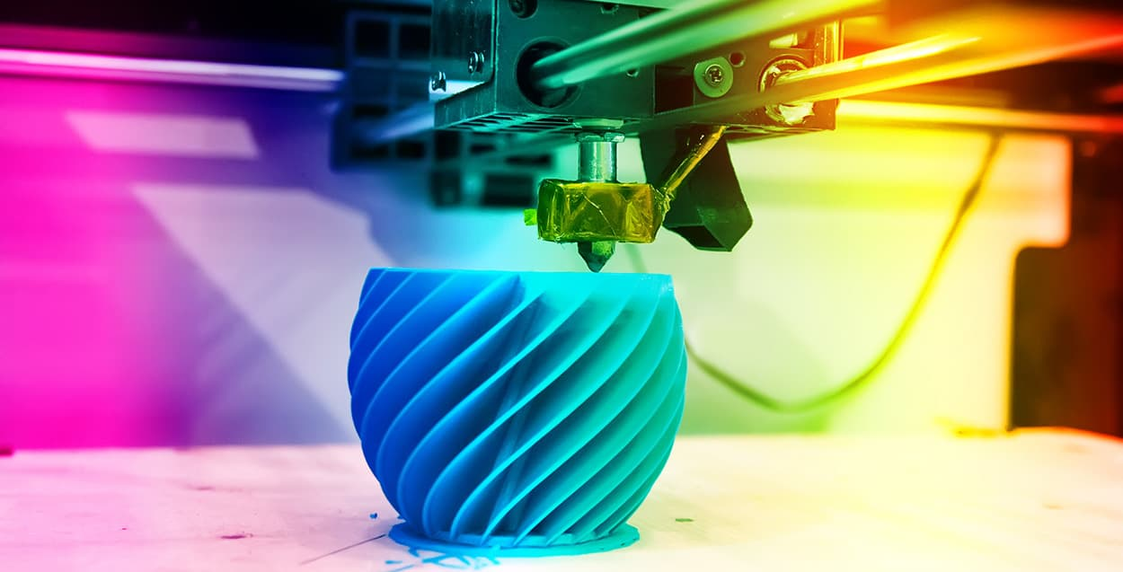 3D Printed Colorful Object